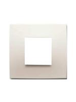 Abb chiara 2csk0201ch placca 2 moduli colore bianco